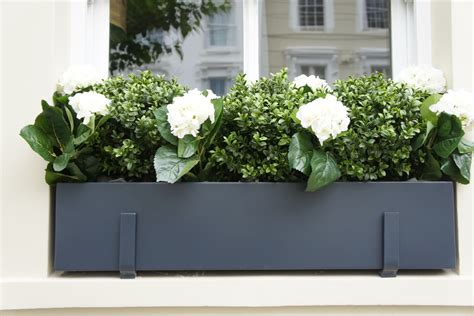 Outside Window Sill Planter by Window Boxes Design Installation Maintenance