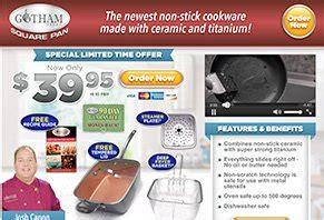 gotham steel square pan reviews    scam  legit