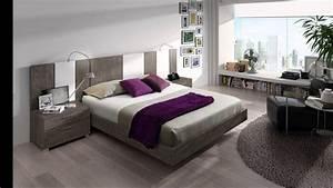 Modele De Chambre A Coucher Moderne : chambre coucher moderne youtube ~ Melissatoandfro.com Idées de Décoration
