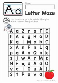 Letter Mazes Upper And Lower Case Letter Recognition By Lavinia Pop