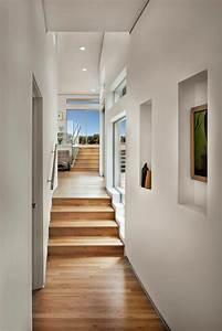 Modern, Hall, Leading, To, Backyard, With, Hardwood, Floor, And