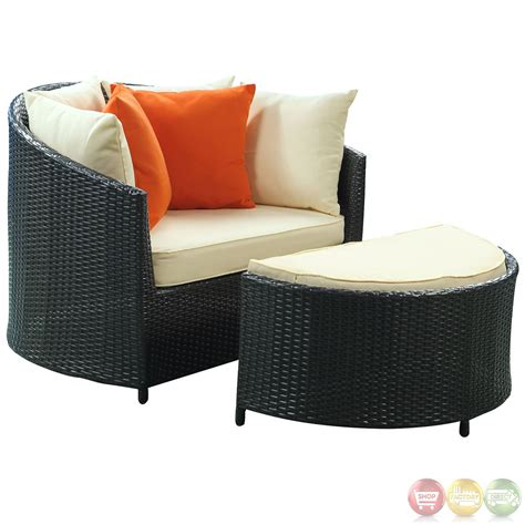 robins contemporary modern nest patio lounge chair with uv