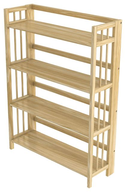 Folding Wood Bookcase by Stony Edge Folding Bookcase 4 Shelves 32 Quot Contemporary