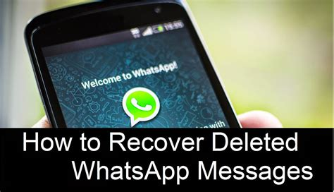 recover deleted whatsapp messages  samsung  update