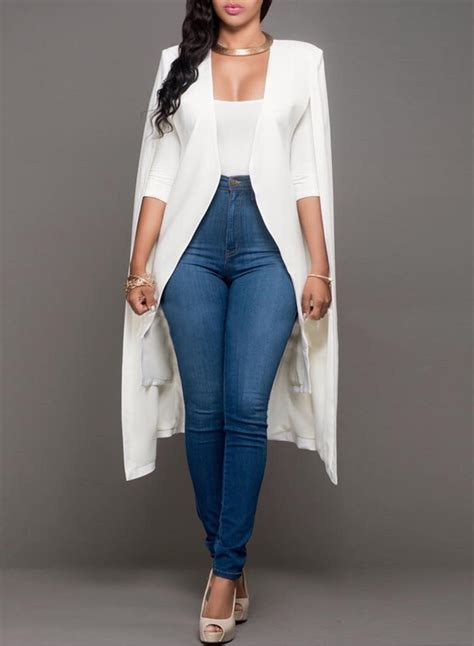 Womens Solid Open Front Cape Blazer