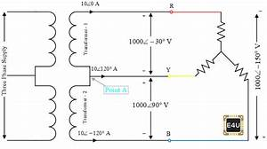 Open Delta Transformer Connection  U2013 Calculation  U0026 Diagram