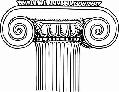Column Greek Columns Ionic Clipart Ancient Greece