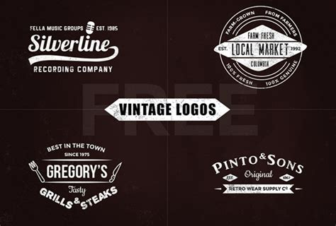 vintage logo templates  psd eps format