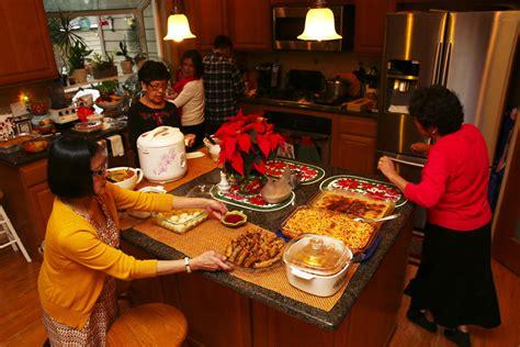 filipino christmas celebration food family  plenty