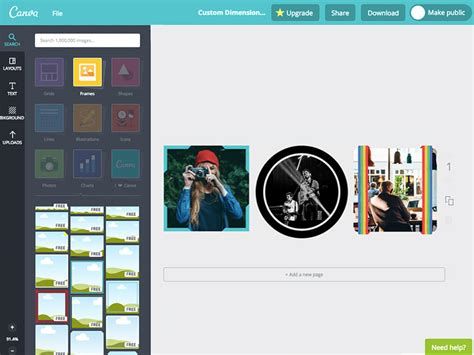 aplica marcos  fotos gratis  canva