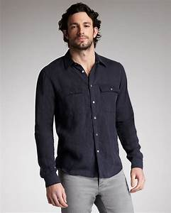 Theory Twopocket Linen Shirt in Black for Men (eclpse)   Lyst