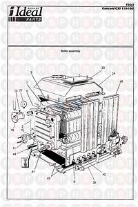 Ideal Concord Cxi 140 Series 2 Appliance Diagram  Boiler