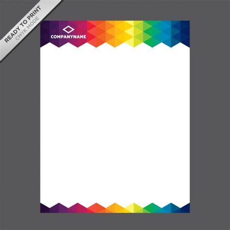 coloured letterhead template vector
