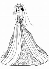 Coloring Pages Dresses Printable Drawings Wearing Colorings Colors Getcolorings Getdrawings sketch template