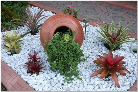 wonderful landscaping ideas  white pebbles  stones