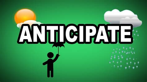 Learn English Words Anticipate  Meaning, Vocabulary With