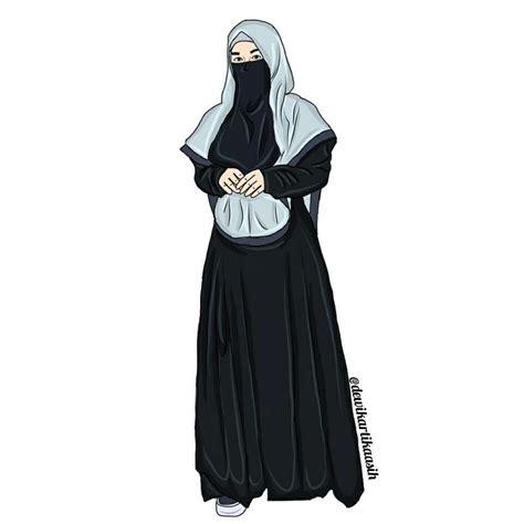 gambar kartun hijab syari tutorial hijab terbaru