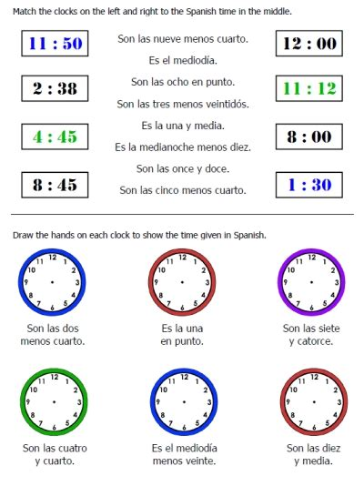 telling time vocabulary worksheets worksheets for all