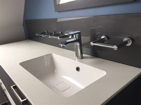 cr 233 dence de salle de bain en verre atelier du verre cr 233 ations