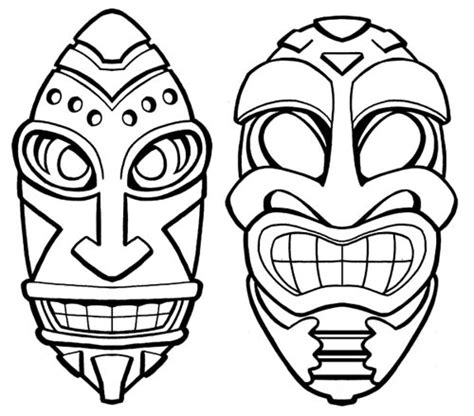 Tiki Totem Templates by Happy Tiki Coloring Pages Coloring Pages