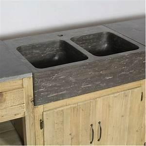 Evier Cuisine Pierre : cuisine o trouver des meubles ind pendants en bois brut ~ Edinachiropracticcenter.com Idées de Décoration