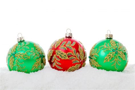 red green christmas balls free stock photo public domain