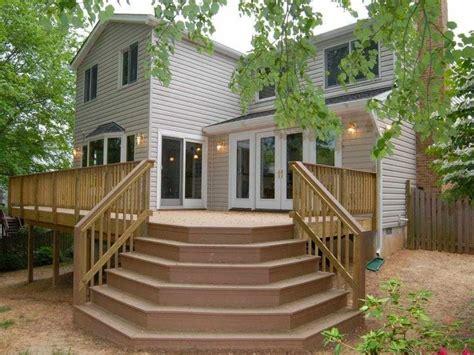 wooden decks designs angled deck stairs designs deck