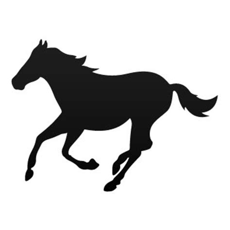 mustang horse silhouette jumping horse silhouette clipart best