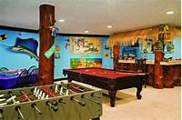 home game room Log Home Game Room Decor