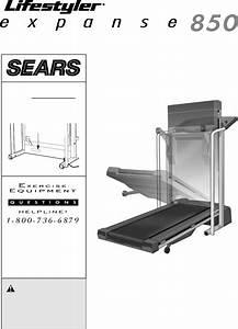 Sears Treadmill 850 User Guide
