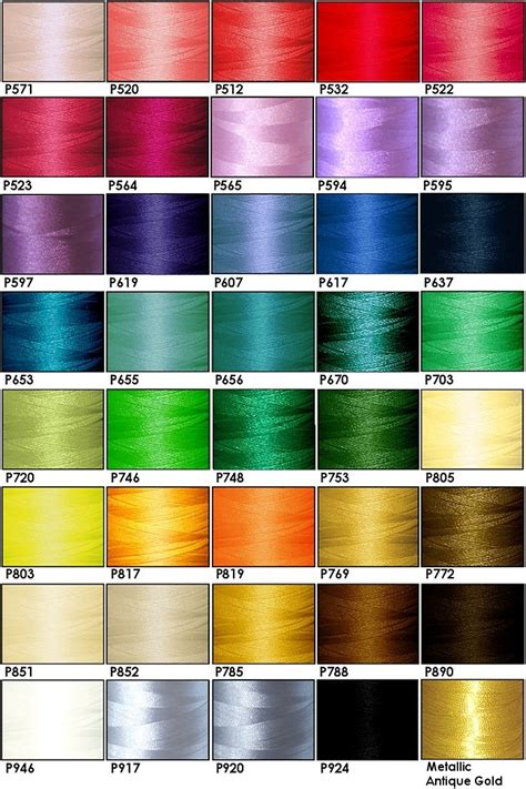 embroidery thread colors polyester thread kit 40 colors