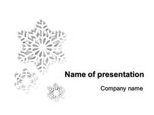 White PowerPoint Template Snow Flakes