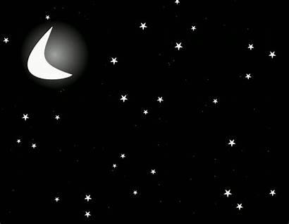 Moon Stars Animated Giphy Buonanotte Domani Gifs
