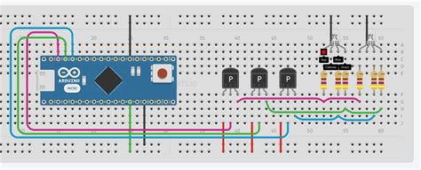 Connecting Cathod Commond Rgb Leds Parallel With