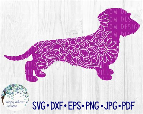 Ornamental mandala vector art free vector. Wire Haired Dachshund Dog Mandala SVG, DXF, pdf, png, eps ...