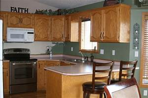 golden oak everywhere help With kitchen colors with white cabinets with carolyn kinder wall art