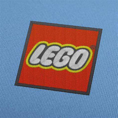 lego logo embroidery design