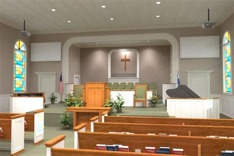 church decorating interior  renderings liturgical
