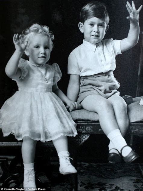 Prince Charles and Princess Anne as Children