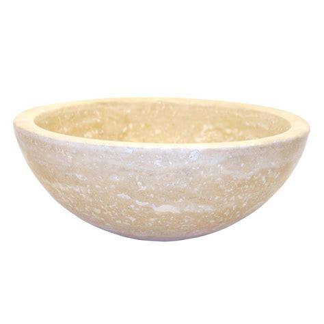 Eden Bath Small Round Stone Vessel Sink In Beige