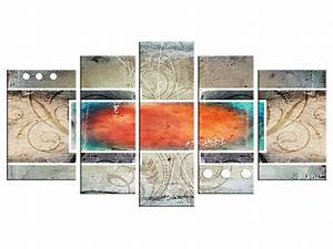 Tableau 5 Parties : 62 best images about tableau abstrait on pinterest florence paintings and couch ~ Teatrodelosmanantiales.com Idées de Décoration