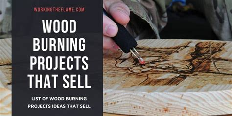 list  wood burning projects  sell  updated