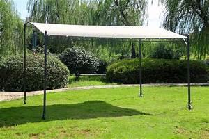 Tonnelle 4 X 3 : pergola ecru 3x4 metres adoss ou autoporte ~ Edinachiropracticcenter.com Idées de Décoration