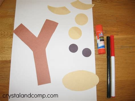 letter of the week preshool craft y is for yak 743   Y is for Yak 2 crystal and comp