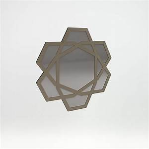 Mirror In Champagne Finish Geneve Collection By M2l