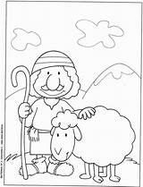 Shepherd Shepherds Appreciation Perdue Brebis Deus Parabole Getcolorings sketch template