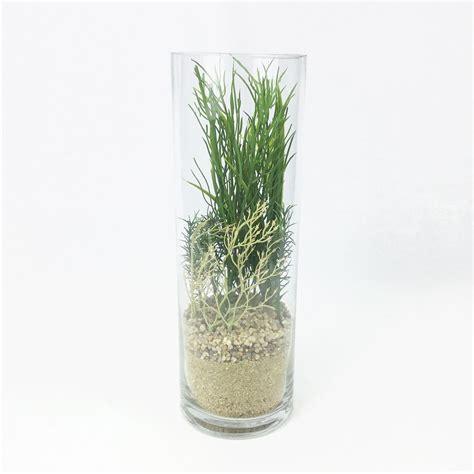 สวนโหลแก้ว ต้นไม้ประดิษฐ์ จัดในแก้วใสทรงกระบอกสูง สำหรับ ...