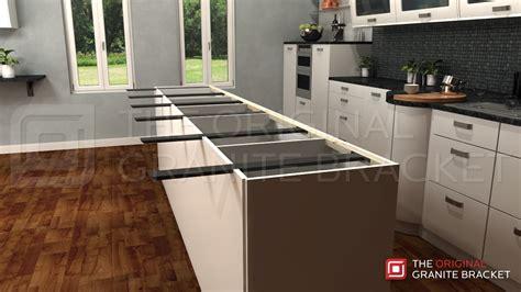 kitchen island brackets kitchen island countertop support bracket protect your