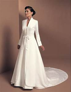 2016 autumn winter white bridal wrap jacket satin full With dress and coat for winter wedding