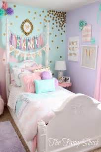 Teal And White Bedrooms by The Fancy Shack Pastel Girls Room Makeover